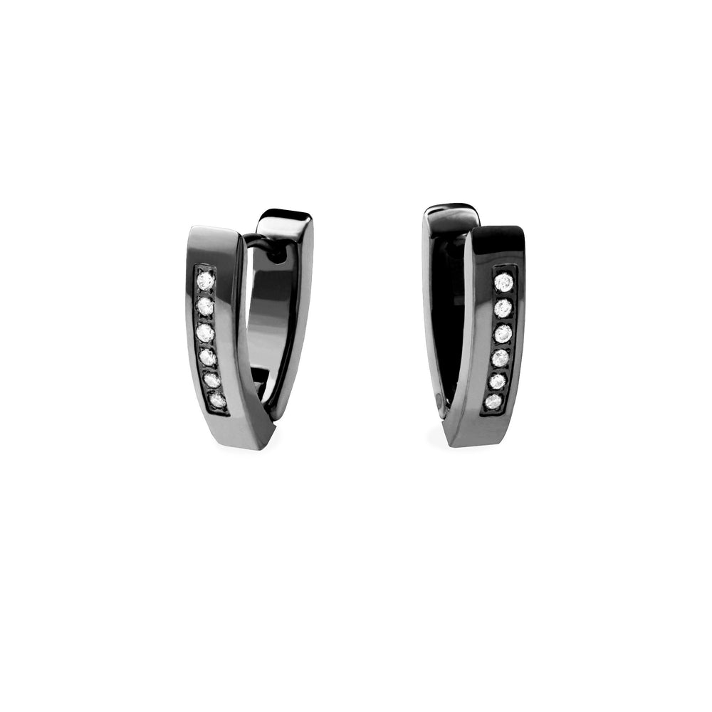 stainless-steel-black-huggie-triangle-cz-stones-mia-T118E002NO