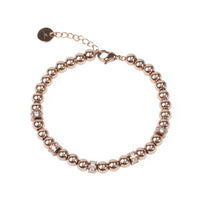 rose gold beads bracelet with stones