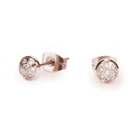 hypoallergenic rosegold fireball stud earrings T217E010DORO MIA
