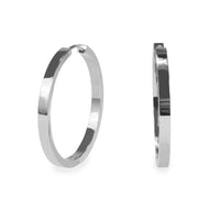 35mm plain modern hoop earrings stainless steel T218E009AR MIAJWL