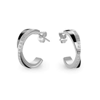 black hypoallergenic half hoop earrings T315E001ARRO MIAJWL