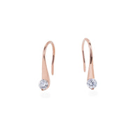 rose gold stone drop earrings stainless steel T318E002DORO MIAJWL