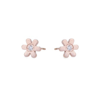 hypoallergenic rosegold flower earrings for girls T411E025DORO MIA