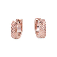 hypoallergenic small rose gold hoop earrings T411E034DORO MIA