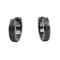 hypoallergenic black huggie earrings T411E036NO MIA