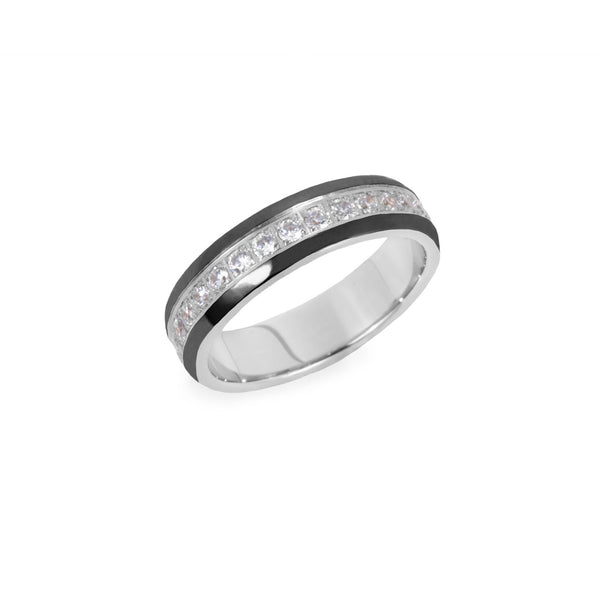 black silver eternity ring women T411R047ARNO MIAJWL