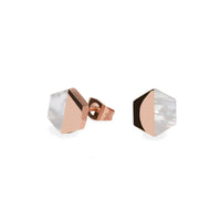 geometric stud earrings for women