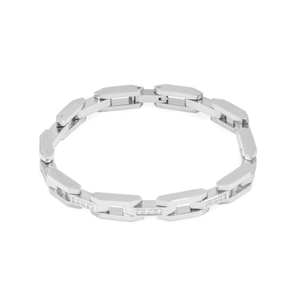 Silver bracelet for women with stones - T418B003AR