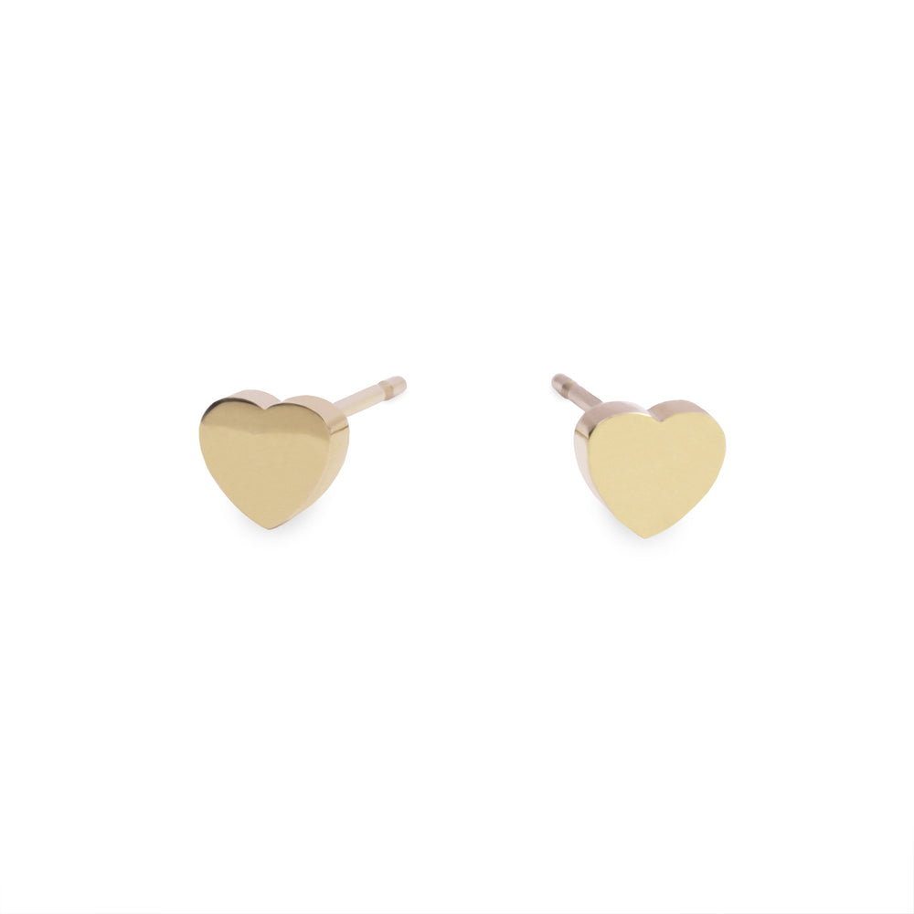 stainless small plain gold heart T418E001DO MIA