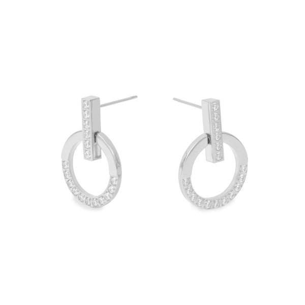 hypoallergenic earrings with stones T418E004AR MIA