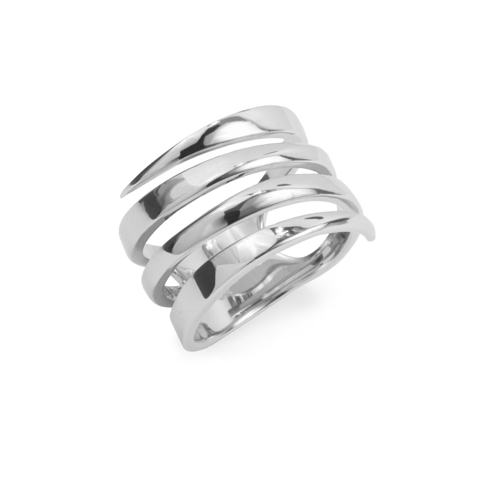 large minimal ring stainles steel women