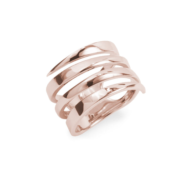 large minimal ring rose gold stainles steel women