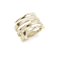 large minimal ring gold stainles steel women
