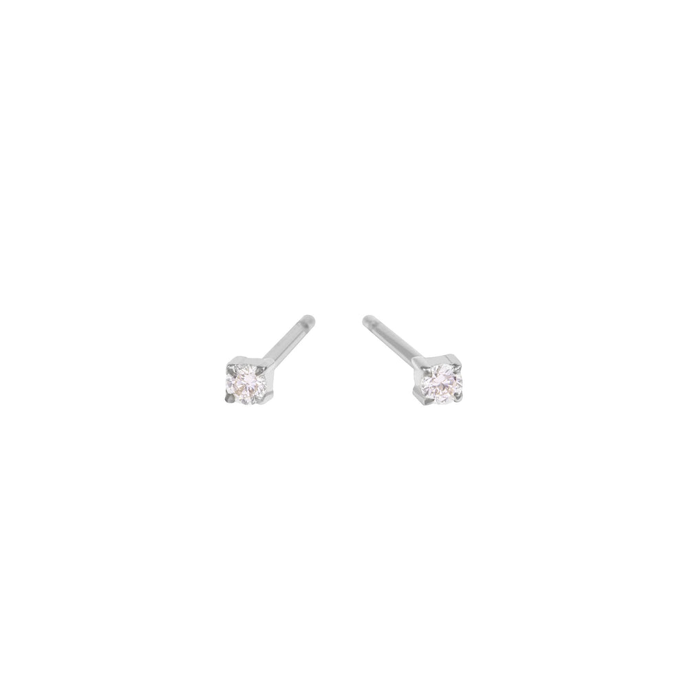 2 mm cubic zirconia stud earrings stainless steel MIA boucles d'oreilles pierre T419E001AR