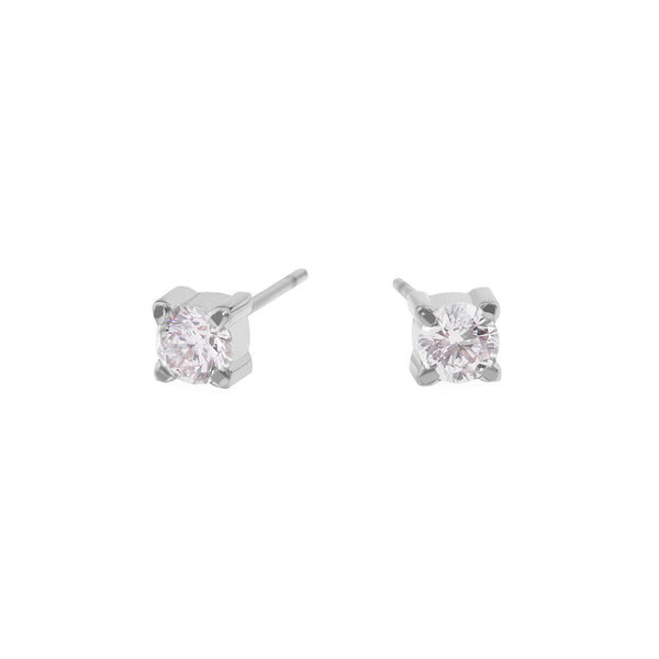 4mm cubic zirconia stud earrings stainless steel MIA boucles d'oreilles pierre T419E002AR