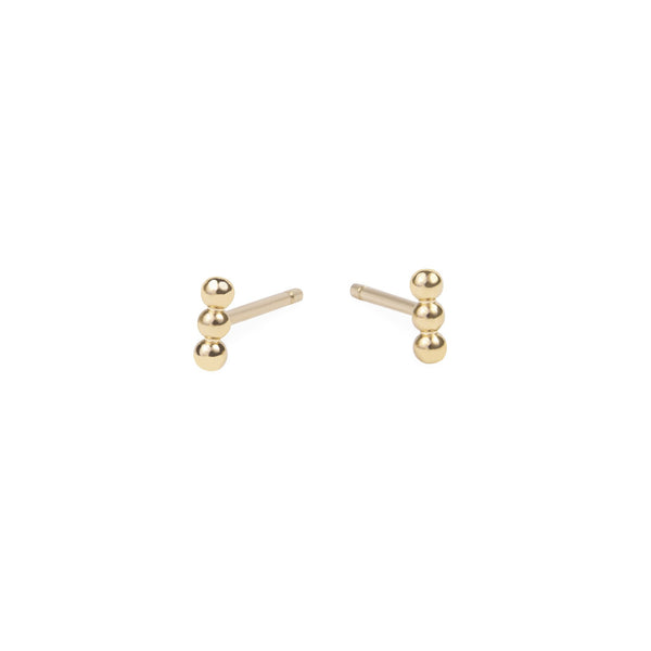 gold small beads stud earrings stainless steel MIA petites boucles d'oreilles billes acier inoxydable T419E003DO