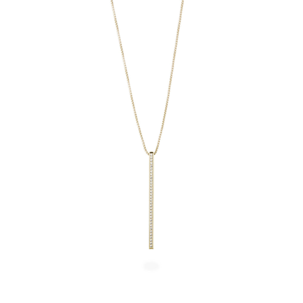 long necklace bar with stones stainless steel MIA collier barre pierres acier inoxydable T419N002DO