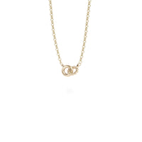 gold delicate pendant necklace stainless steel pendentif collier delicat acier inoxydable MIA T419P003DO