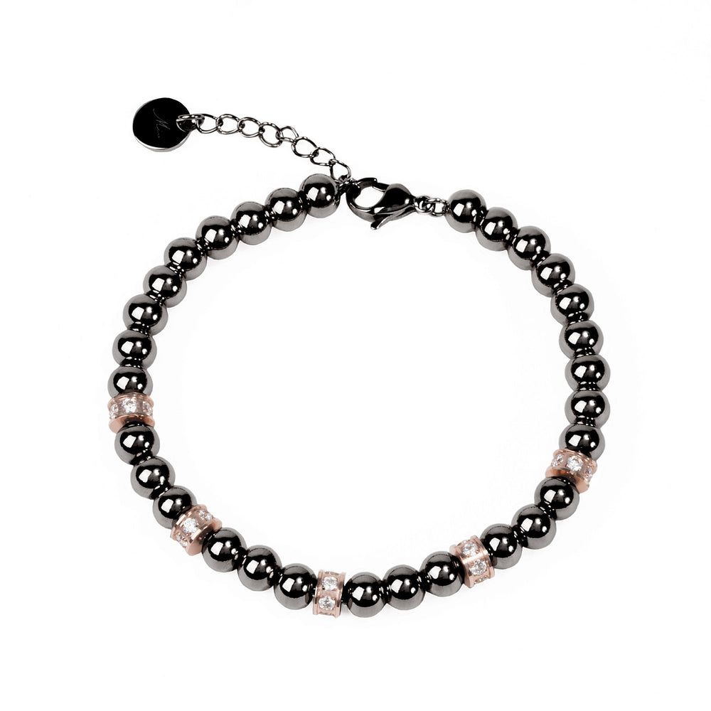 chic black beads bracelet for women