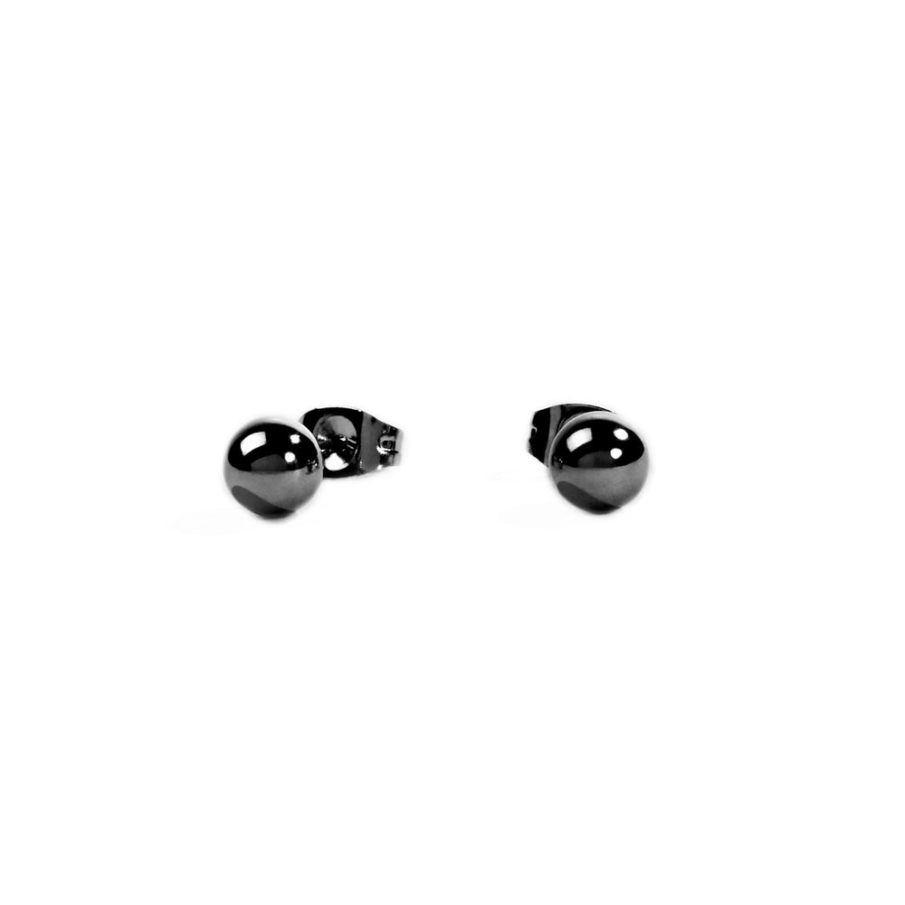 black round stud earrings hypoallergenic