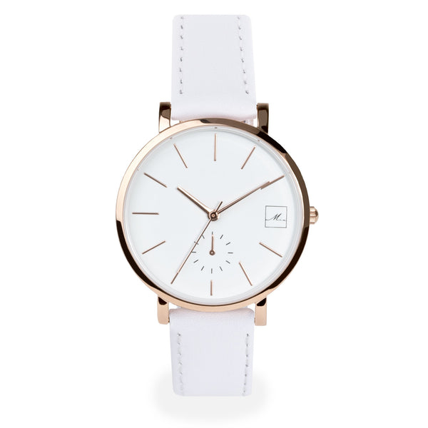 white leather watch interchangeable strap
