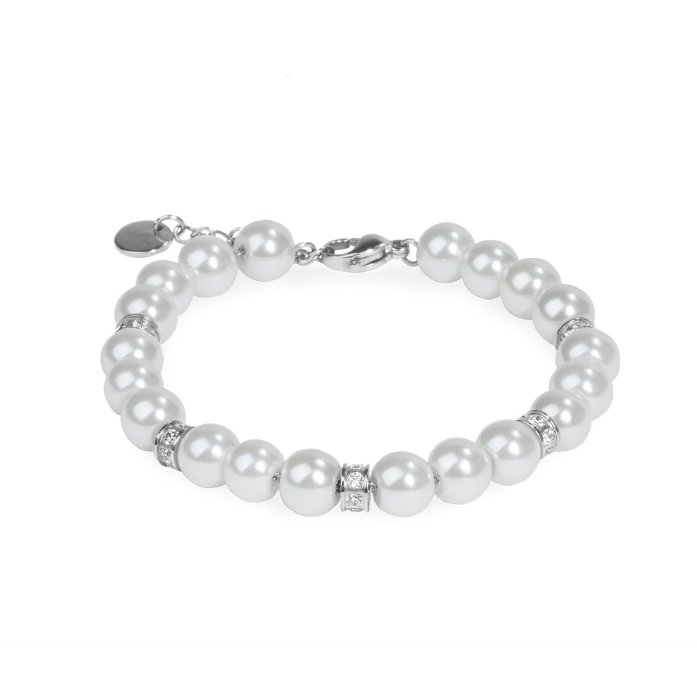 chic pearl bracelet with stones