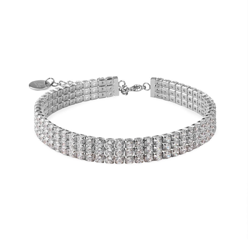 3 rows of stones tennis bracelet