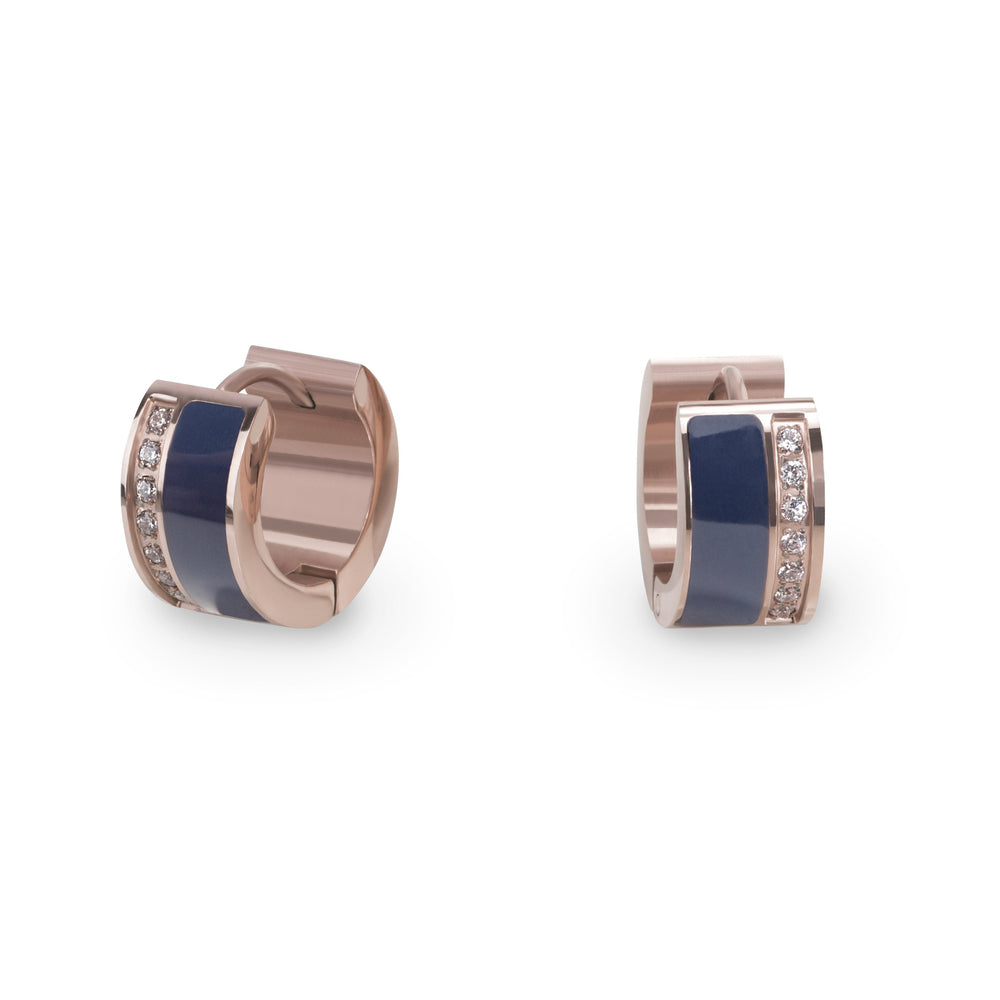 navy-rosegold-huggie-earrings-stainless-hypoallergenic-T216E001BM-MIA