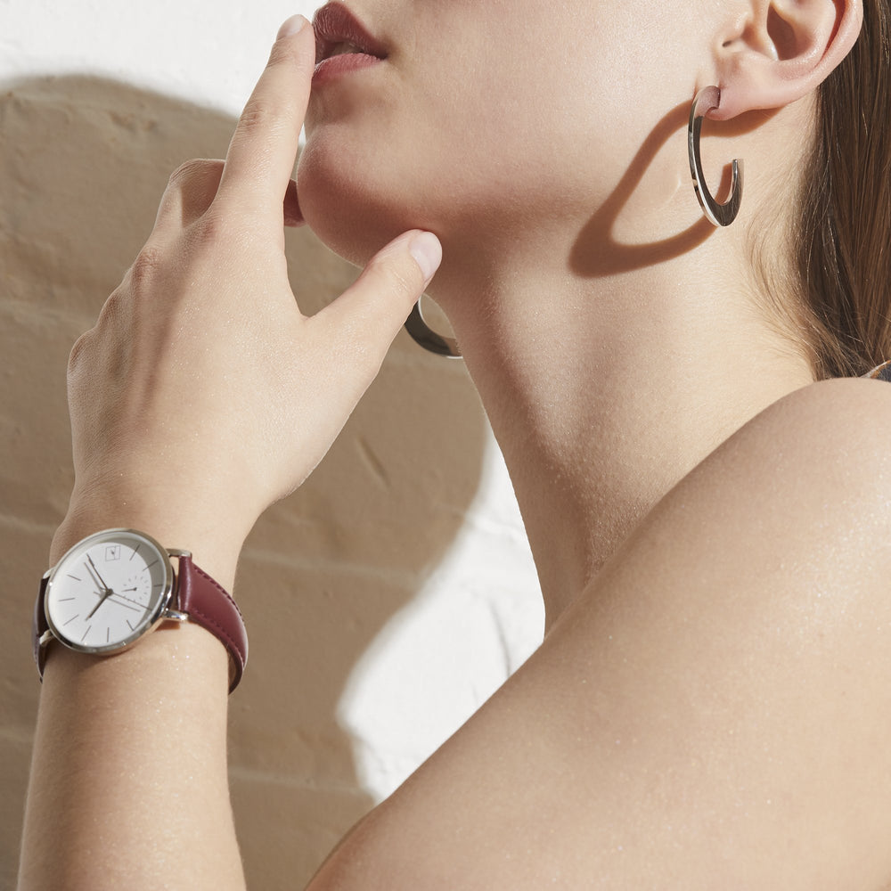 minimal burgundy bracelet for women - W418B02BG