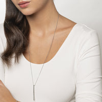 long necklace bar with stones stainless steel MIA collier barre pierres acier inoxydable T419N002AR