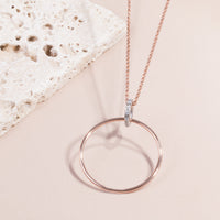 circle long necklace stainless steel hypoallergenic T119N001AR MIA Jewelry