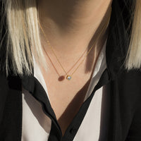 gold stone pendant necklace hypoallergenic