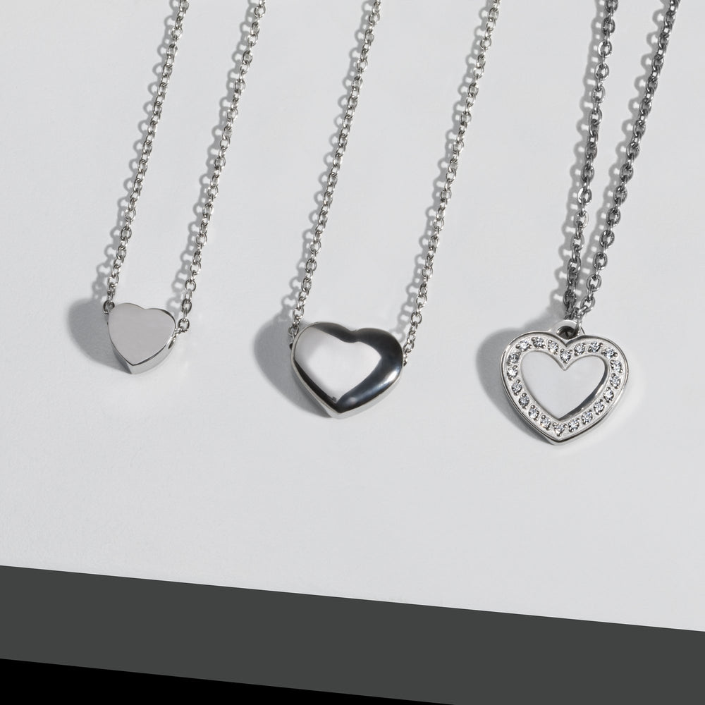 plain heart pendant necklace for women