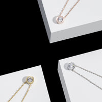 round stone pendant necklace stainless steel