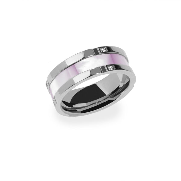 hypoallergenic stainless steel ring with mop