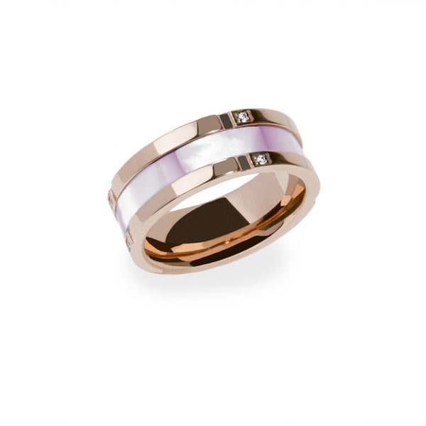 hypoallergenic stainless steel ring rosegold