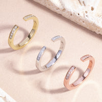 open ring stones stainless steel T119R003AR MIA Jewelry