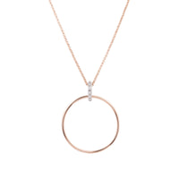 rose gold circle long necklace stainless steel hypoallergenic T119N001ARRO MIA Jewelry