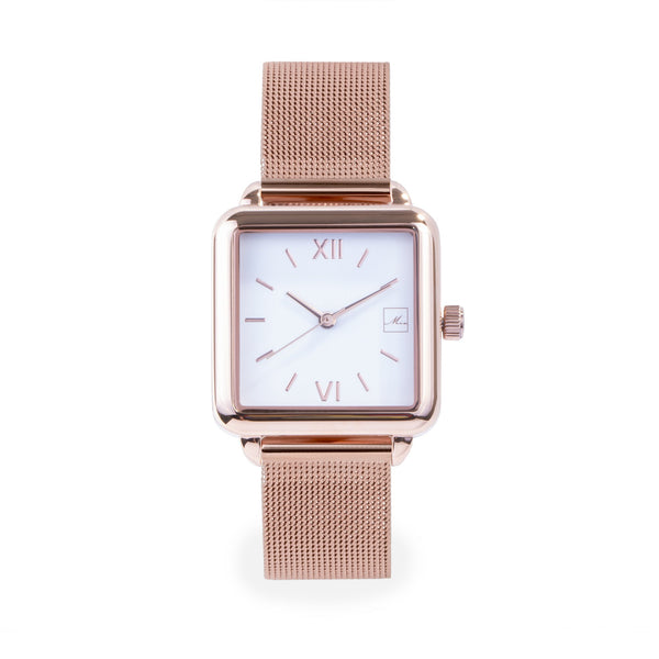 rose gold stainless steel square watch women W119M03DORO MIA Jewelry