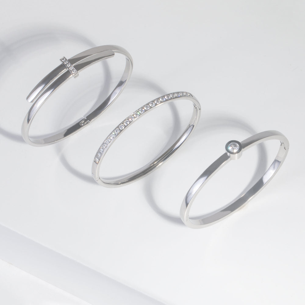 silver bangle bracelet JOELLE X MIA