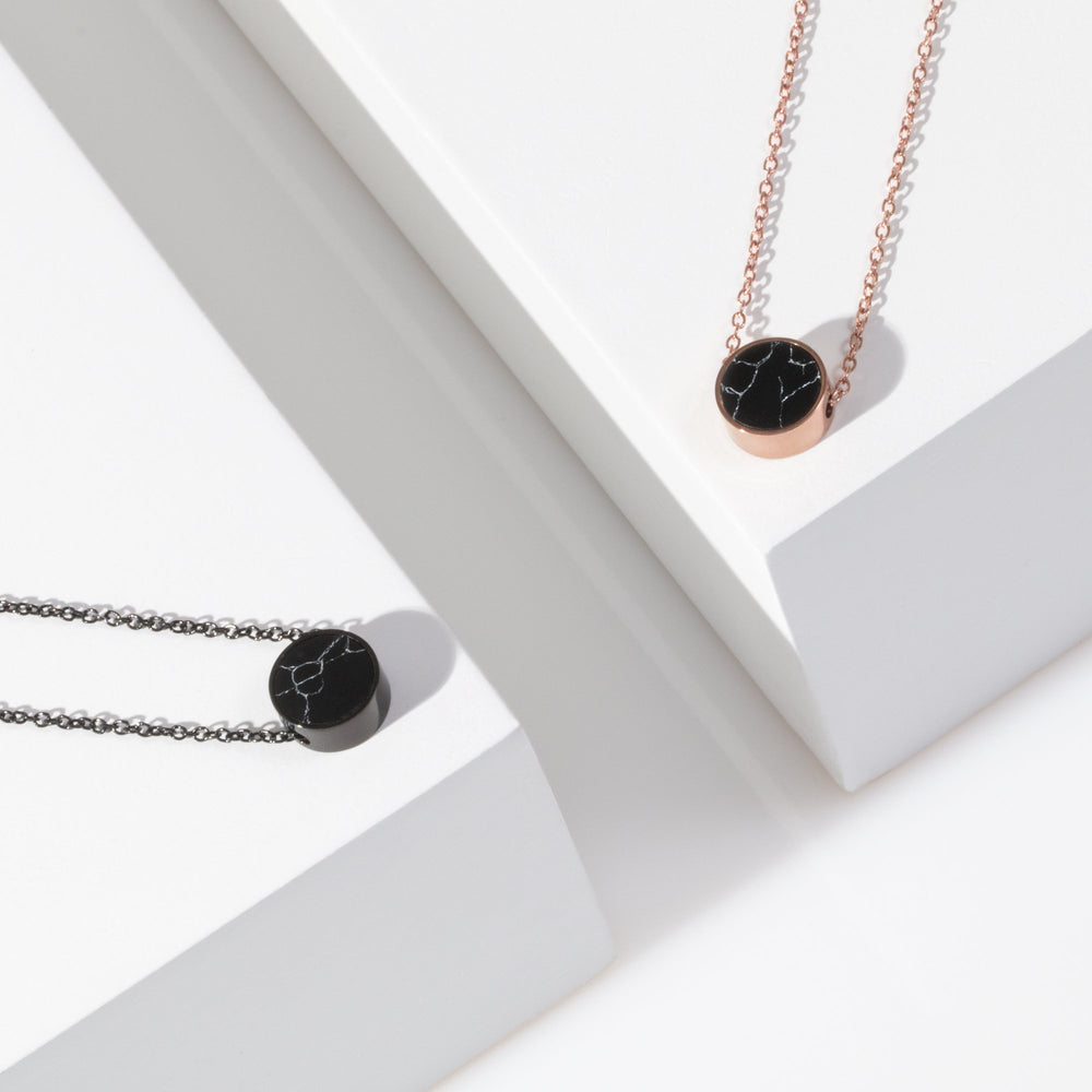 hypoallergenic black necklace stainless steel
