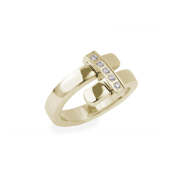gold ring stainless steel mia joelle