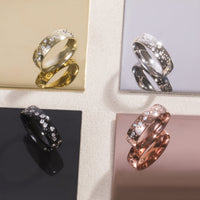 modern ring stones constellation stainless steel