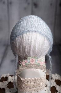 Light Grey - Mohair Newborn Bonnet - Prop Addiction Canada Maternity Newborn Photography Photo Props