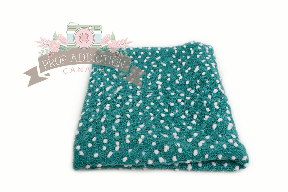Blue Green - Square Popcorn / Pebble Wrap or Layering Piece - Prop Addiction Canada Maternity Newborn Photography Photo Props