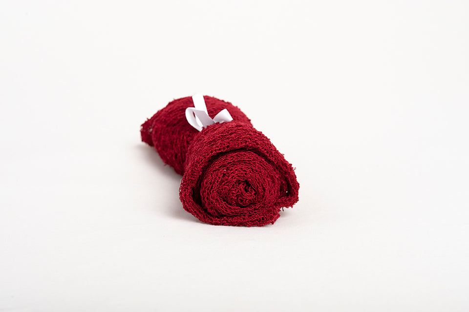Rose Red - Stretch Knit Nubble Wrap - Prop Addiction Canada Maternity Newborn Photography Photo Props