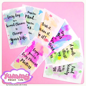 Dividers - Watercolor Quotes Set