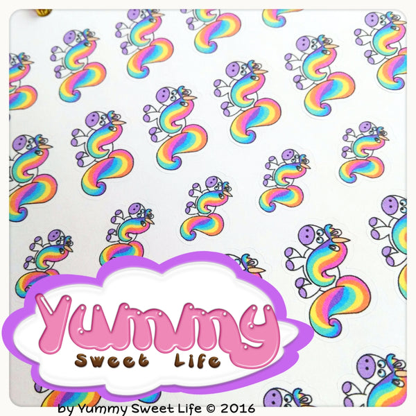 Rainbow the Unicorn Stickers