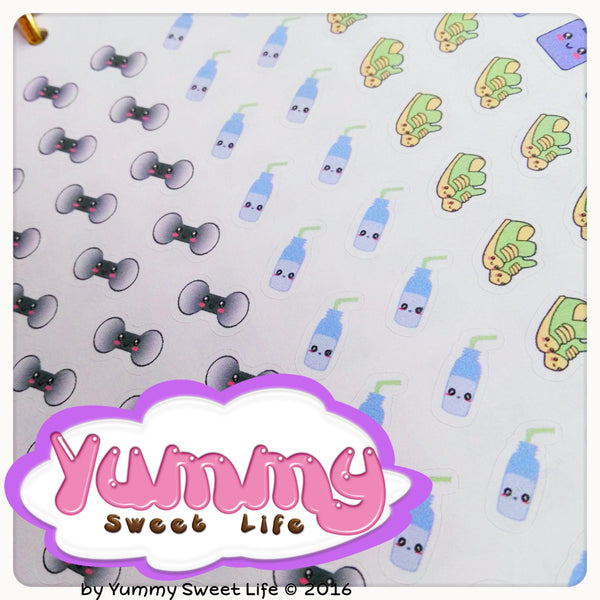Kawaii Gym Workout Stickers