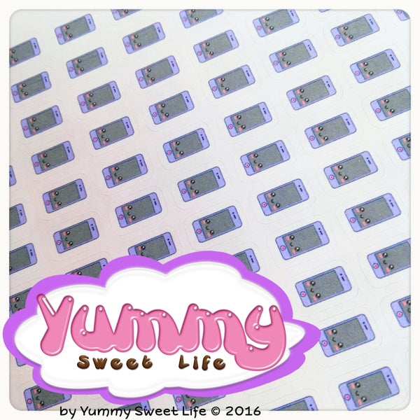 Kawaii Cell Phone Calls Stickers